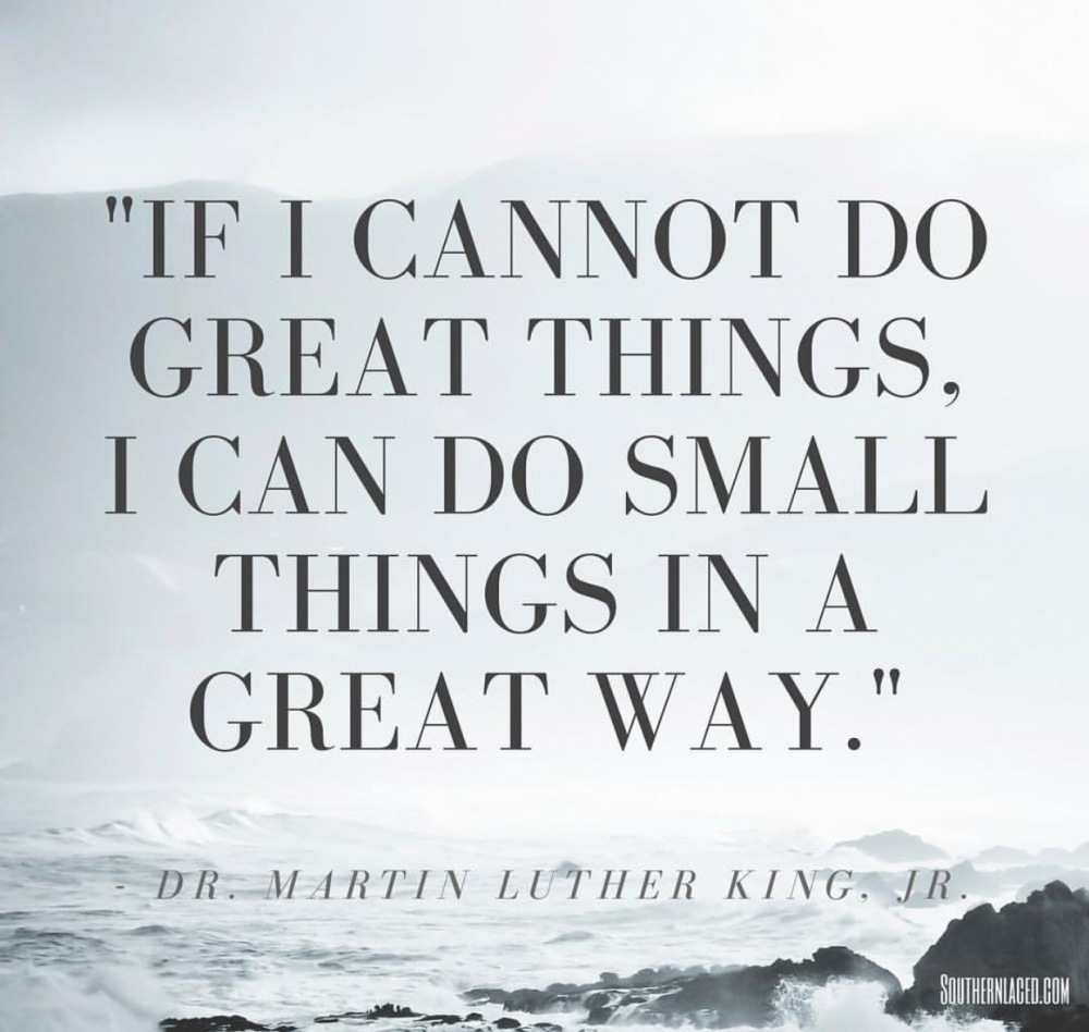 Image result for martin luther king jr if i cannot do great things""