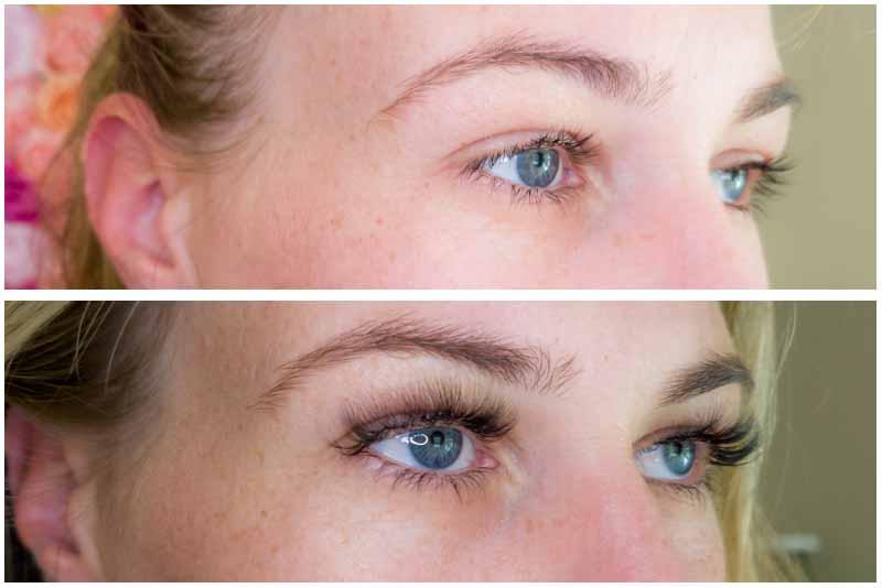 eyelash extensions transformation